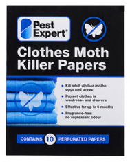 Pest Expert Clothes Moth Killer Strips (10 Perforated Papers)